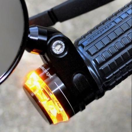 Mini-Clignotant Disc d'embout de guidon Noir par Motogadget