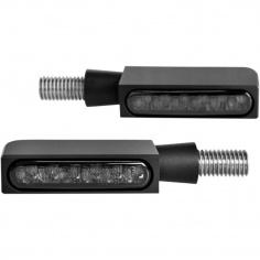 Mini-clignotants av/ar noir à LEDs par Heinz Bikes