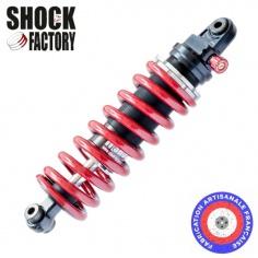 M-Shock 1pour Triumph avec molette de réglage, ressort rouge, corps noir