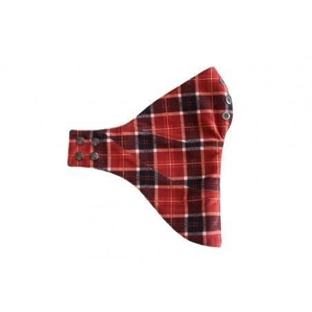 Masque cuir Scottish marron par Sophie, couturière de Talent
