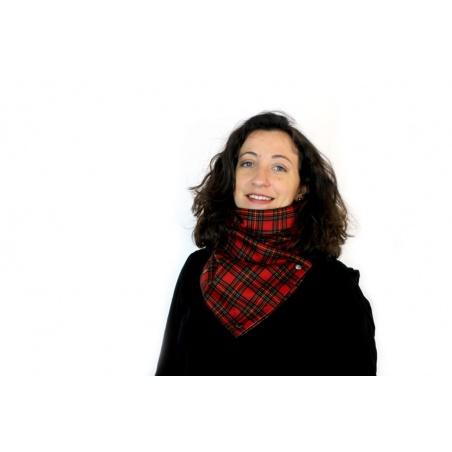 Écharpe en Velours Scottish rouge par Sophie, Couturière de Talent