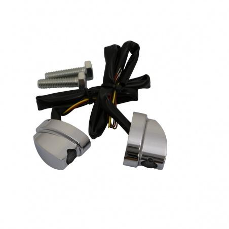 Micro-Clignotants Nano® Chrome arrière par Heinz Bikes