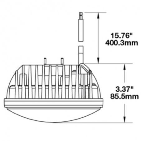 Phare à LED 14,5cm M8691 Adaptatif à pied par JW Speaker