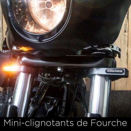 Clignotant de Fourche 36 à 56 mm noir par Heinz Bikes