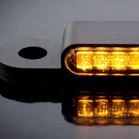 Mini-Clignotants Avant noir à LED par Heinz Bikes pour Harley