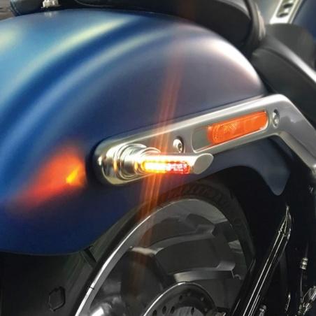 Mini-clignotants arrière à LEDs chrome par Heinz Bikes