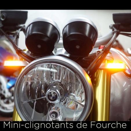Clignotant de Fourche 36 à 56 mm chrome par Heinz Bikes