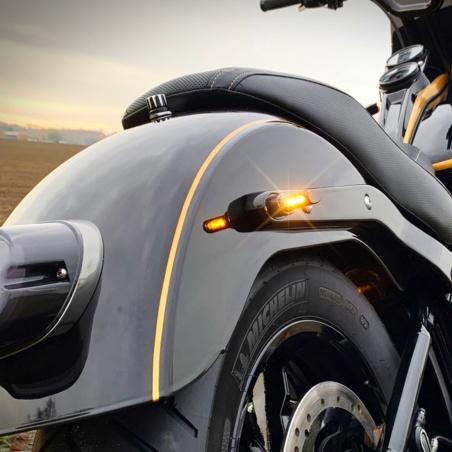 Micro-clignotants arrière chrome à LEDs par Heinz Bikes