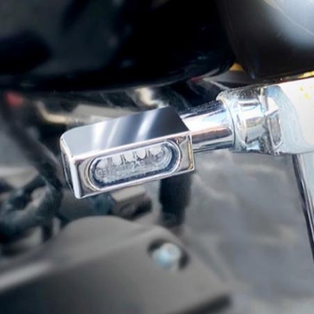 Micro-clignotants av/ar chrome à LEDs par Heinz Bikes