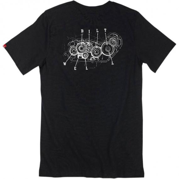 T-Shirt noir 4-cam Biltwell®