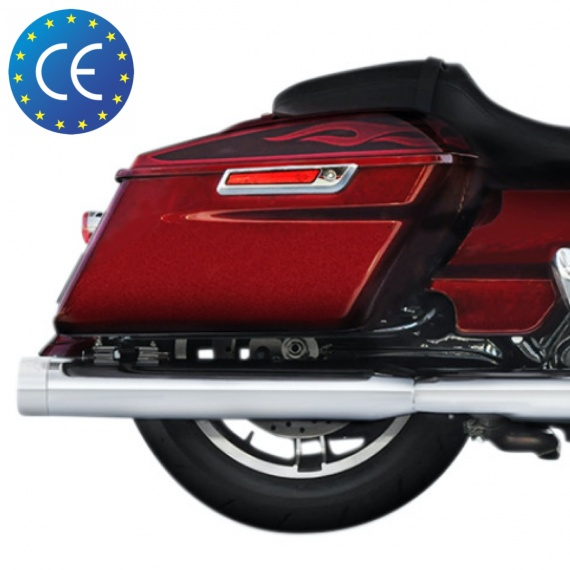 "Silencieux Chrome 4"" ECE Euro 4 pour CVO 117 par Rinehart®"