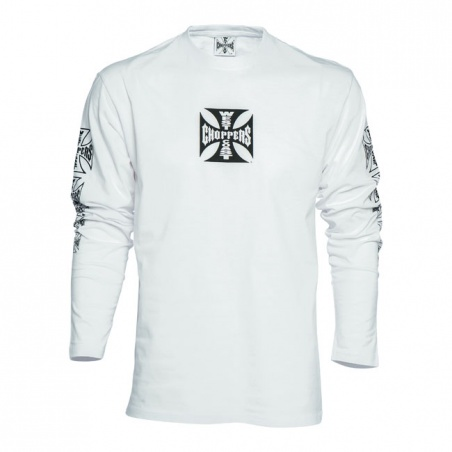 T-Shirt Manches longues Blanc by West Coast Choppers®