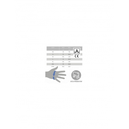 Gants en cuir homologués CE Bullit N&B by Holyfreedom®