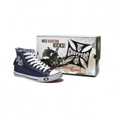 Chaussures montantes Warriors Navy by West Coast Choppers®