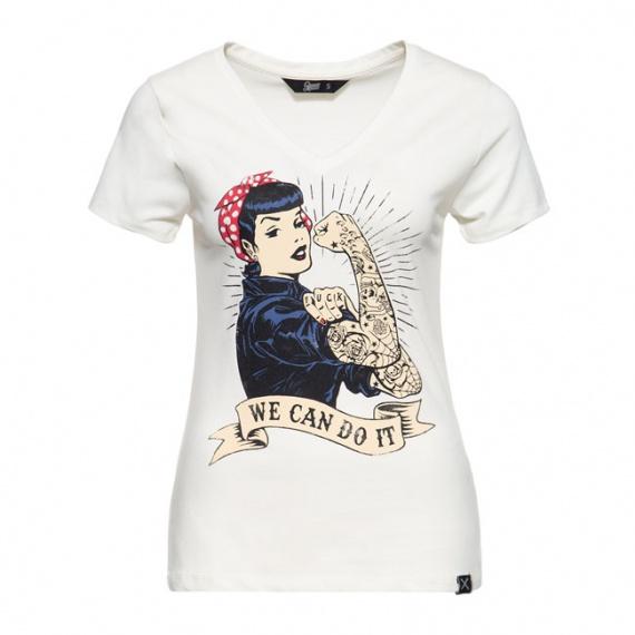 T-Shirt We Can Do It Blanc by Queen Kerosin®
