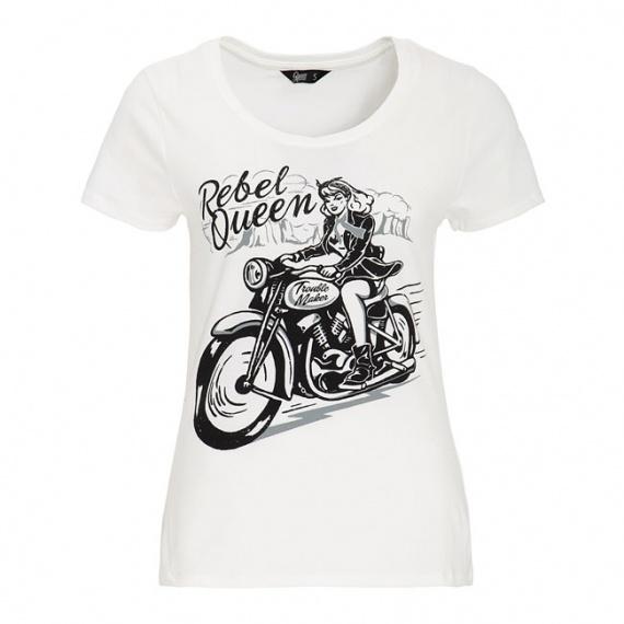 T-Shirt Rebel Queen Blanc by Queen Kerosin®