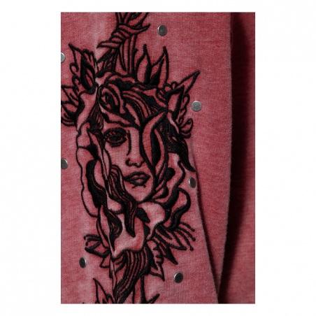 Sweat capuche Rose Face by Queen Kerosin®