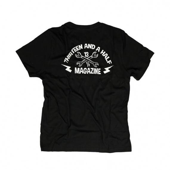 T-shirt Black Logo by 13 1/2 Magazine®