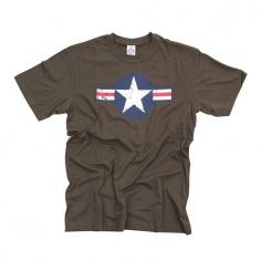 T-Shirt Air Force Star & Bars Brown