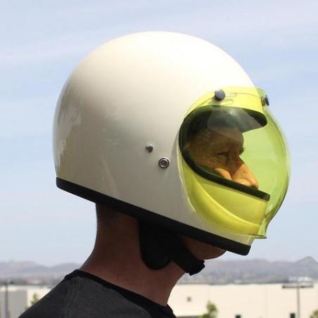 Visière Bulle jaune pour Casque moto par Biltwell