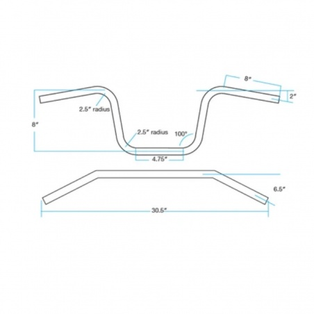"Guidon 1""- 25,4mm Chumps Chrome par Biltwell®"