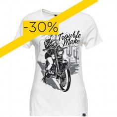 T-Shirt Trouble Maker blanc by Queen Kerosin®