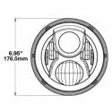 Phare à LED 18cm M8700 Evo 2 chrome par JW Speaker
