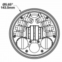Phare à LED 14,5cm M8690 A2 Adaptatif