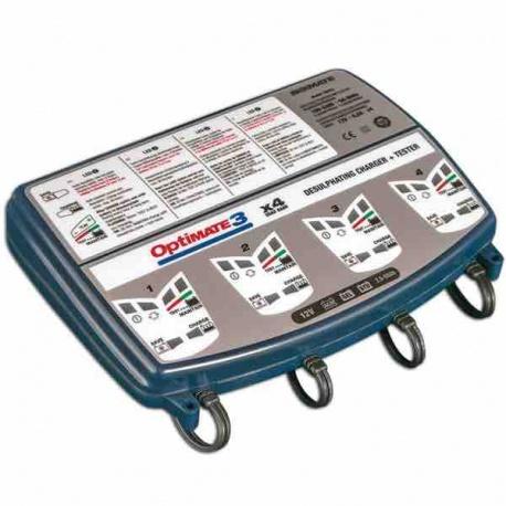 Chargeur 0,8A Optimate 3 à 4 sorties par tecMATE®